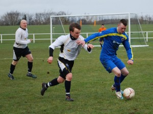 Ryan Pickering in action against Moyola Olyimpic