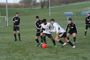Wilson Taveres on the ball for the 18s against Rathfriland.