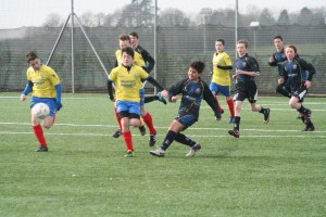 Action from the u14s derby with Dungannon.