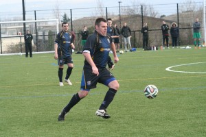 Goal scorer George Dardis in possesion for CYFC
