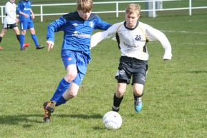 Brendan Davey on the ball for CYFC 16s against Craigavon City
