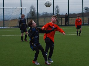 Only eyes for the ball in the CYFC 12s against Windmill Stars game last Saturday